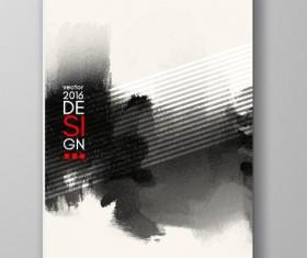 Ink paint cover brochures vector 03