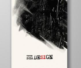 Ink paint cover brochures vector 04