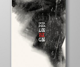 Ink paint cover brochures vector 06