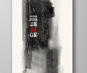 Ink paint cover brochures vector 10