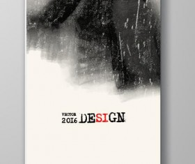 Ink paint cover brochures vector 12