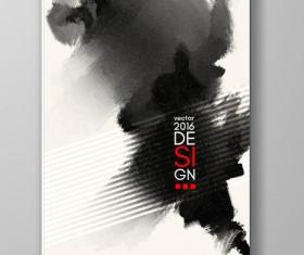 Ink paint cover brochures vector 15