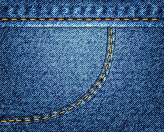 Jeans fabric background vector 01
