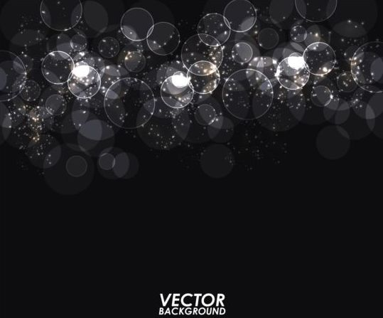 light circle with black background vector vector