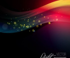 Light wave motion background vector 02