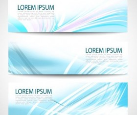 Linght blue wave banners design vector 02