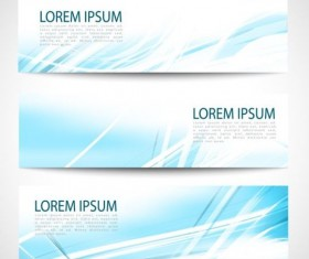 Linght blue wave banners design vector 03