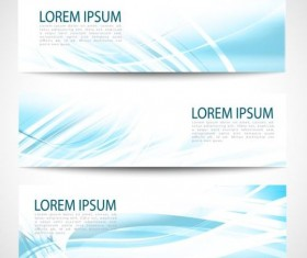 Linght blue wave banners design vector 04