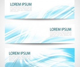 Linght blue wave banners design vector 06