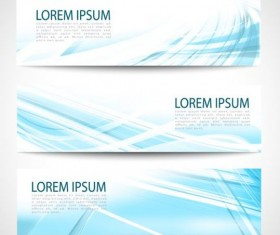 Linght blue wave banners design vector 07