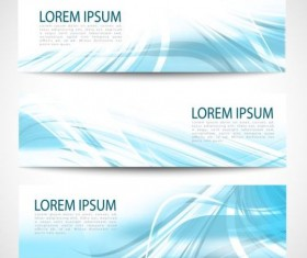 Linght blue wave banners design vector 08