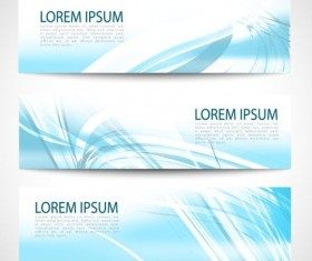 Linght blue wave banners design vector 09