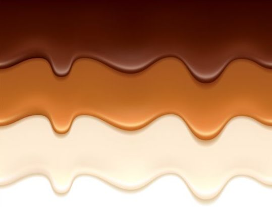 melted chocolate background vector 01