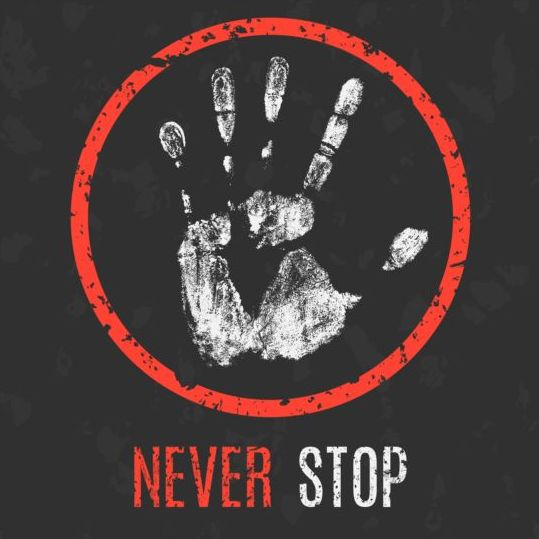 Never stop sign vector