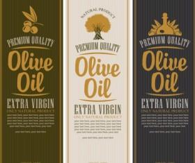 Olive oil vertical labels vintage vector 01
