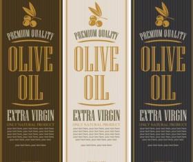 Olive oil vertical labels vintage vector 02