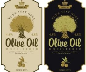 Olive oil vintage label sticker vector 01