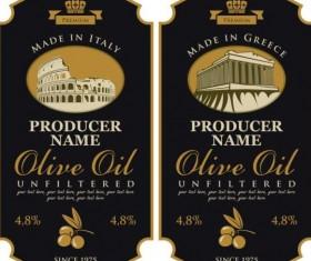 Olive oil vintage label sticker vector 03