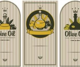 Olive oil vintage label sticker vector 04