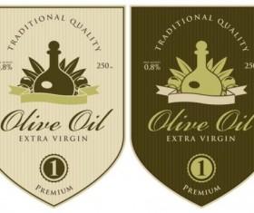 Olive oil vintage label sticker vector 05