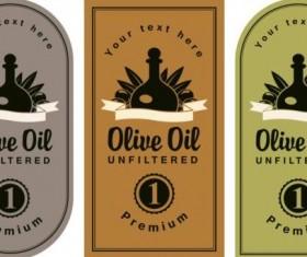 Olive oil vintage label sticker vector 06