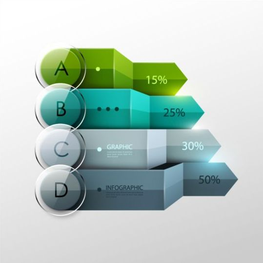 Options and number modern infographic vectors set 02