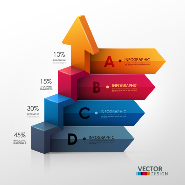 Options and number modern infographic vectors set 14