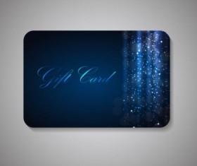 Ornate blue gift card vector