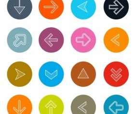 Outlines arrow icons set