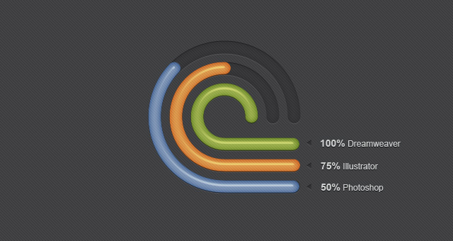 Radial Diagrams PSD Infographic