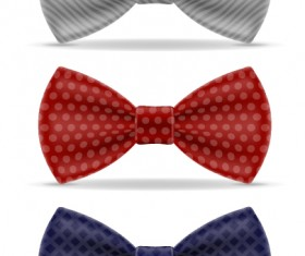 Realistic bow vector template 01