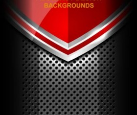 Red abstract metal background design vector