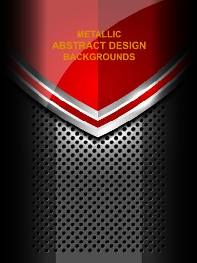 Red Abstract Metal Background Design Vector Vector