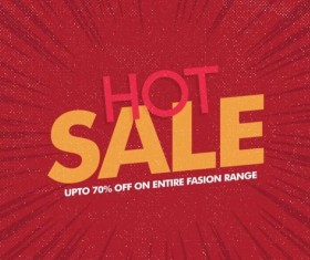 Red hot sale background template vector 01