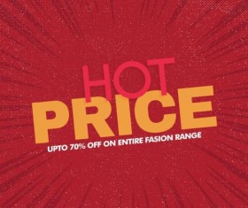 Red hot sale background template vector 04