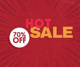 Red hot sale background template vector 05