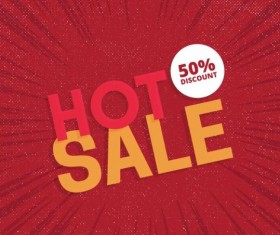Red hot sale background template vector 06