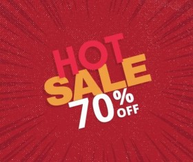 Red hot sale background template vector 07