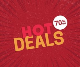 Red hot sale background template vector 08