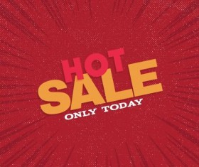 Red hot sale background template vector 09