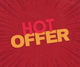 Red hot sale background template vector 11