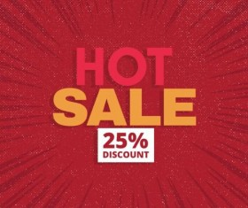 Red hot sale background template vector 13