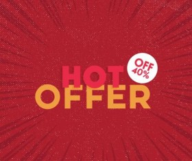 Red hot sale background template vector 15