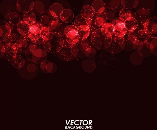 red light circle with dark background vector