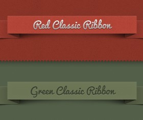 Ribbon psd banners
