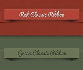 Ribbon psd banners