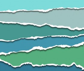 Ripped open paper stripes background vector 05