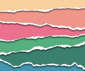 Ripped open paper stripes background vector 06