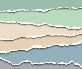 Ripped open paper stripes background vector 08