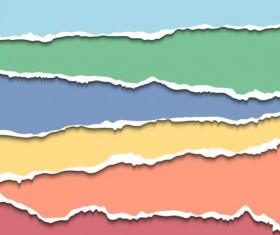 Ripped open paper stripes background vector 09